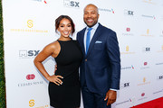 Gloria Govan and Derek Fisher attend the 33rd Annual Cedars-Sinai Sports Spectacular at The Compound on July 15, 2018 in Inglewood, California.