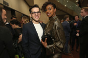 Condola Rashad (R) attends the 33rd Annual Lucille Lortel Awards on May 6, 2018 in New York City.