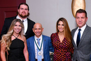 (L-R) Melissa Qvale,  Brent Qvale, Mike Smith, Cynthia Naanouh and Tom Murro attend the 33rd Annual Great Sports Legends Dinner, which raised millions of dollars for the Buoniconti Fund to Cure Paralysis at The New York Hilton Midtown on September 24, 2018 in New York City.