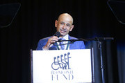 Honoree Mike Smith speaks onstage during the 33rd Annual Great Sports Legends Dinner, which raised millions of dollars for the Buoniconti Fund to Cure Paralysis at The New York Hilton Midtown on September 24, 2018 in New York City.