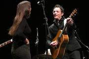Jade Castrinos and Jakob Dylan perform onstage at a screening of 'Echo in the Canyon' during the 34th Santa Barbara International Film Festival at the Lobero Theatre on February 8, 2019 in Santa Barbara, California.