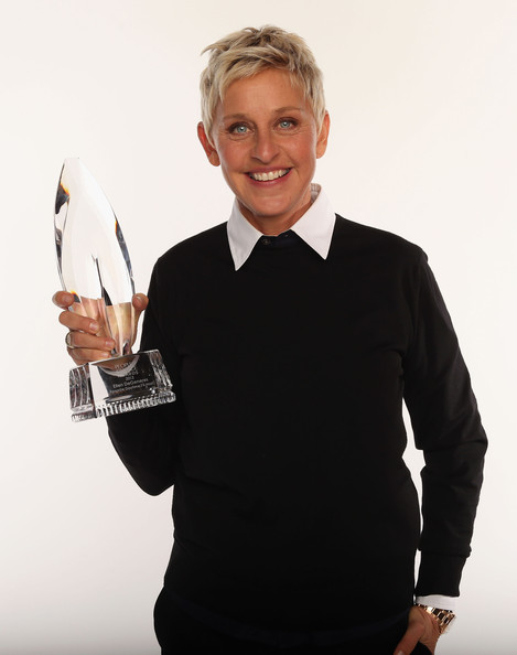 TV personality Ellen DeGeneres poses for a portrait during the 39th Annual People's Choice Awards at Nokia Theatre L.A. Live on January 9, 2013 in Los Angeles, California.