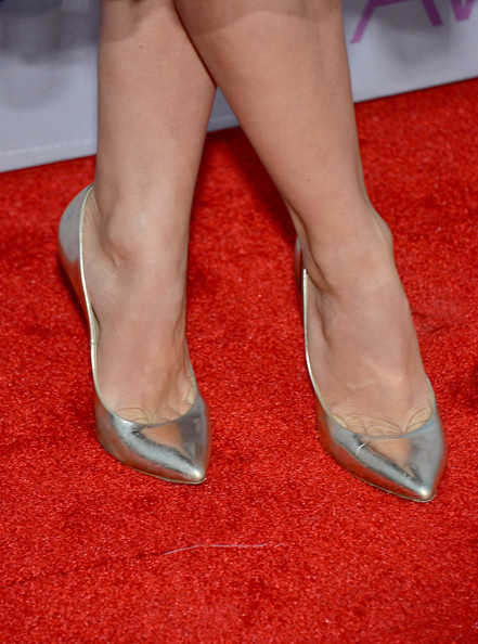 Actress Julianne Hough (shoe detail) attends the 39th Annual People's Choice Awards at Nokia Theatre L.A. Live on January 9, 2013 in Los Angeles, California.