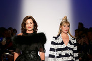 Luann de Lesseps (L) and Sonja Morgan walk the runway during The 3rd Annual Blue Jacket Fashion Show Benefitting The Prostate Cancer Foundation at Pier 59 Studios on February 7, 2019 in New York City, NY.