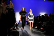 Luann de Lesseps (L) and Sonja Morgan walk the runway at the The 3rd Annual Blue Jacket Fashion Show Benefitting The Prostate Cancer Foundation at Pier 59 Studios on February 7, 2019 in New York City, NY.