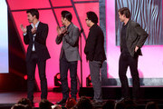 (L-R) Presenters Ian Anthony Dale, Kevin Tancharoen, Brian Tee and Casper Van Dien speak onstage at the 3rd Annual Streamy Awards at Hollywood Palladium on February 17, 2013 in Hollywood, California.