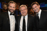 (L-R) Producer Judd Apatow, President of Turner Entertainment Networks Steve Koonin, and President, Head of Programming for TNT, TBS and Turner Classic Movies Michael Wright attend the 41st AFI Life Achievement Award Honoring Mel Brooks at Dolby Theatre on June 6, 2013 in Hollywood, California. Special Broadcast will air Saturday, June 15 at 9:00 P.M. ET/PT on TNT and Wednesday, July 24 on TCM as part of an All-Night Tribute to Brooks.