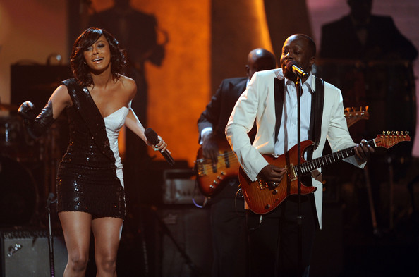 Singer Keri Hilson (L) and musician Wyclef Jean perform onstage during the 41st NAACP Image awards held at The Shrine Auditorium on February 26, 2010 in Los Angeles, California.