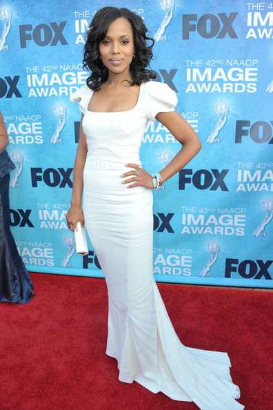 Actress Kerry Washington arrives at the 42nd NAACP Image Awards held at The Shrine Auditorium on March 4, 2011 in Los Angeles, California.
