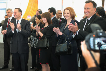 John Key Julia Gillard 42nd Pacific Islands Forum Takes Place In Auckland - Day 2
