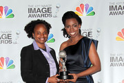 Writer/director Dee Rees (L) and actress Adepero Oduye pose in the press room at the 43rd NAACP Image Awards held at The Shrine Auditorium on February 17, 2012 in Los Angeles, California.