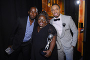 (L-R) Actors Lamorne Morris, Cassi Davis and Terrance Jenkins attend the 44th NAACP Image Awards at The Shrine Auditorium on February 1, 2013 in Los Angeles, California.