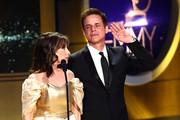 Kate Linder and Christian LeBlanc on stage during the 45th Annual Daytime Creative Arts Emmy Awards at Pasadena Civic Auditorium on April 27, 2018 in Pasadena, California.