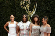 (L-R) Tamera Mowry, Loni Love, Jeannie Mai and Adrienne Bailon attend the 45th annual Daytime Emmy Awards at Pasadena Civic Auditorium on April 29, 2018 in Pasadena, California.