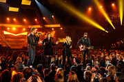 Singer Stevie Nicks (2nd L) performs with singers (L-R) Charles Kelley, Hillary Scott and Dave Haywood of Lady Antebellum onstage during the 49th Annual Academy Of Country Music Awards at the MGM Grand Garden Arena on April 6, 2014 in Las Vegas, Nevada.