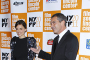 """Elena Anaya and Antonio Banderas attend the 49th annual New York Film Festival presentation of """"The Skin I Live In"""" at Alice Tully Hall, Lincoln Center on October 12, 2011 in New York City."""