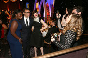(L-R) Actors Danielle Brooks, Fred Armisen and Carrie Brownstein have their picture taken by actress Natasha Lyonne at the 4th Annual Critics' Choice Television Awards at The Beverly Hilton Hotel on June 19, 2014 in Beverly Hills, California.