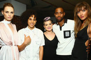 (L-R) Andreja Pejic,  Shantell Martin, Kelly Osbourne,  Jay Ellis and Alina Baikova attend 4th An nual Solstice Presented By amfAR's generationCURE at Hudson Hotel on June 23, 2015 in New York City.