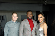 (L-R) Joseph Sikora, 50 Cent, and La La Anthony pose after the 50 Cent Walk Of Fame Ceremony on January 30, 2020 in Hollywood, California.