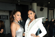 (L-R) La La Anthony and Jamira Haines pose after the 50 Cent Walk Of Fame Ceremony on January 30, 2020 in Hollywood, California.