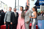 (L-R) Joseph Sikora, Mark Canton, Courtney Kemp Agboh, 50 Cent, and La La Anthony pose during the 50 Cent Walk Of Fame Ceremony on January 30, 2020 in Hollywood, California.