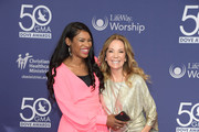 Nicole C. Mulllen and Kathie Lee Gifford attend the 50th Annual GMA Dove Awards at Lipscomb University on October 15, 2019 in Nashville, Tennessee.