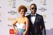 (L-R) Ryan Michelle Bathe and  Sterling K. Brown attend the 50th NAACP Image Awards at Dolby Theatre on March 30, 2019 in Hollywood, California.