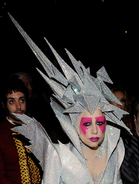 Singer Lady Gaga backstage during the 52nd Annual GRAMMY Awards held at Staples Center on January 31, 2010 in Los Angeles, California.