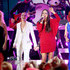 Sara Evans Photos - (FOR EDITORIAL USE ONLY)  (L-R) Kimberly Schlapman of Little Big Town, Jennifer Nettles, Sara Evans and Reba McEntire perform onstage during the 53rd annual CMA Awards at the Bridgestone Arena on November 13, 2019 in Nashville, Tennessee. - The 53rd Annual CMA Awards - Show