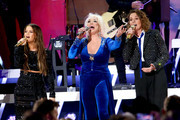(FOR EDITORIAL USE ONLY) Maren Morris, Tanya Tucker and Brandi Carlile perform onstage during the 53rd annual CMA Awards at the Bridgestone Arena on November 13, 2019 in Nashville, Tennessee.