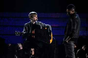 Usher Justin Bieber The 53rd Annual GRAMMY Awards - Show