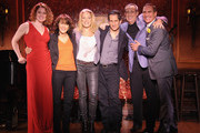 (L-R) Performers Christiane Noll, Andrea Martin, Sherie Rene Scott, Seth Rudetsky, David Friedman and Mark Nadler attend the press preview at 54 Below on October 4, 2012 in New York City.