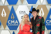 (FOR EDITORIAL USE ONLY) Summer Duncan and Jon Pardi attend the 54th Annual CMA Awards at Music City Center on November 11, 2020 in Nashville, Tennessee.