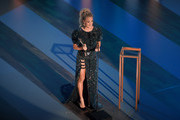 Carrie Underwood accepts the Entertainer of the Year award onstage during the 55th Academy of Country Music Awards at the Grand Ole Opry on September 16, 2020 in Nashville, Tennessee. The ACM Awards airs on September 16, 2020 with some live and some prerecorded segments.
