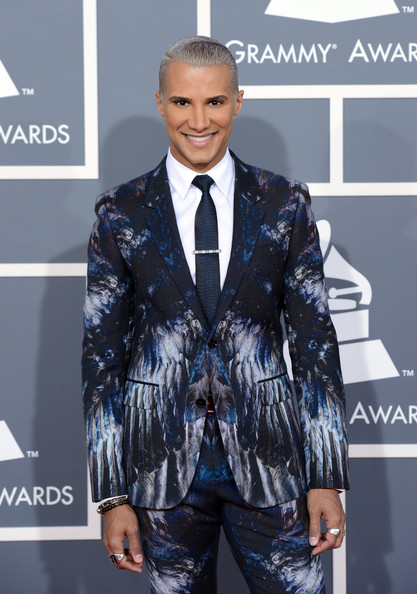 Stylist Jay Manuel arrives at the 55th Annual GRAMMY Awards at Staples Center on February 10, 2013 in Los Angeles, California.