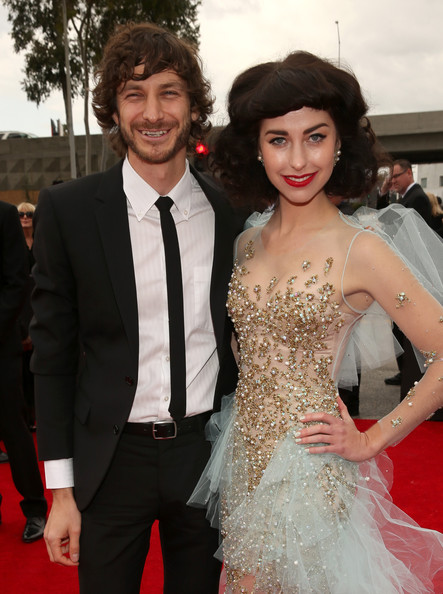 Musicians Gotye (L) and Kimbra attend the 55th Annual GRAMMY Awards at STAPLES Center on February 10, 2013 in Los Angeles, California.