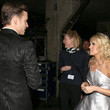 She chats with Justin Timberlake backstage at the Grammys.