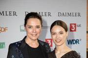 Desiree Nosbusch and Paula Beer attend the annual Grimme Award on April 05, 2019 in Marl, Germany.
