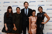 (L-R) Actors   Shari Sebbens, Deborah Mailman, Chris O'Dowd, Miranda Tapsell and Jessica Mauboy attends the premiere of 'The Sapphires' during the 56th BFI London Film Festival at Odeon West End on October 15, 2012 in London, England.