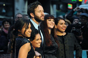 Jessica Mauboy, Miranda Tapsell, Chris O'Dowd, Shari Sebbens and Deborah Mailman attend the Premiere of 'The Sapphires' during the 56th BFI London Film Festival at Odeon West End on October 15, 2012 in London, England.