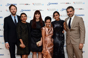 (L-R) Actors   Chris O'Dowd, Deborah Mailman, Shari Sebbens, Miranda Tapsell, Jessica Mauboy and director Wayne Blair attend the premiere of 'The Sapphires' during the 56th BFI London Film Festival at Odeon West End on October 15, 2012 in London, England.
