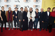 "Tatiana Lisovkaia, Jean-Claude Carriere, Benoit Delhomme, Oscar Isaac, Louise Kugelberg, Julian Schnabel, Willem Dafoe, Jon Kilik, Vladimir Consigny and Stella Schnabel attend the ""At Eternity's Gate"" premiere during the 56th New York Film Festival at Alice Tully Hall, Lincoln Center on October 12, 2018 in New York City."
