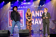 (L-R) Garth Brooks, Carrie Underwood and Paul Williams seen onstage during the 57th Annual ASCAP Country Music Awards on November 11, 2019 in Nashville, Tennessee.