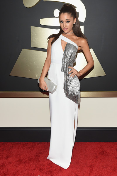 Recording Artist Ariana Grande attends The 57th Annual GRAMMY Awards at the STAPLES Center on February 8, 2015 in Los Angeles, California.