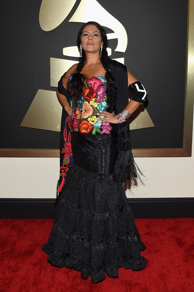 Singer-songwriter  Lila Downs attends The 57th Annual GRAMMY Awards at the STAPLES Center on February 8, 2015 in Los Angeles, California.