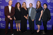 """John Waters, producer Julie Goldman, director Ivy Meeropool, Michael Meeropool, producer Carolyn Hepburn and producer Chris Clements attend the 57th New York Film Festival - """"Bully. Coward. Victim"""" at Walter Reade Theater on September 29, 2019 in New York City."""