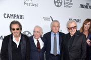 """Al Pacino,  Martin Scorsese, Robert De Niro, Harvy Keitel, and Jane Rosenthal attend """"The Irishman"""" screening during the 57th New York Film Festival at Alice Tully Hall, Lincoln Center on September 27, 2019 in New York City."""