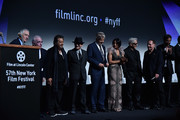 """Robert De Niro, Director Martin Scorsese, Al Pacino and Joe Pesci, along with cast members attend the 57th New York Film Festival - """"The Irishman"""" Intro at Alice Tully Hall, Lincoln Center on September 27, 2019 in New York City."""