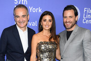 "Oliverier Assayas, Penelope Cruz and Edgar Ramirez attends the 57th New York Film Festival ""Wasp Network"" arrivals at Alice Tully Hall, Lincoln Center on October 05, 2019 in New York City."