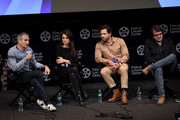 "Writer/director Olivier Assayas, Penelope Cruz,Edgar Ramirez and producer Rodrigo Teixeira attend the 57th New York Film Festival - ""Wasp Network"" Press Conference at Walter Reade Theater on October 04, 2019 in New York City."